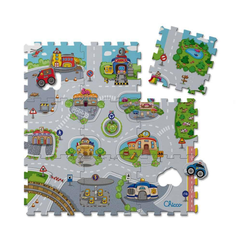 Chicco - 00007163000000 - Tapis Puzzle City