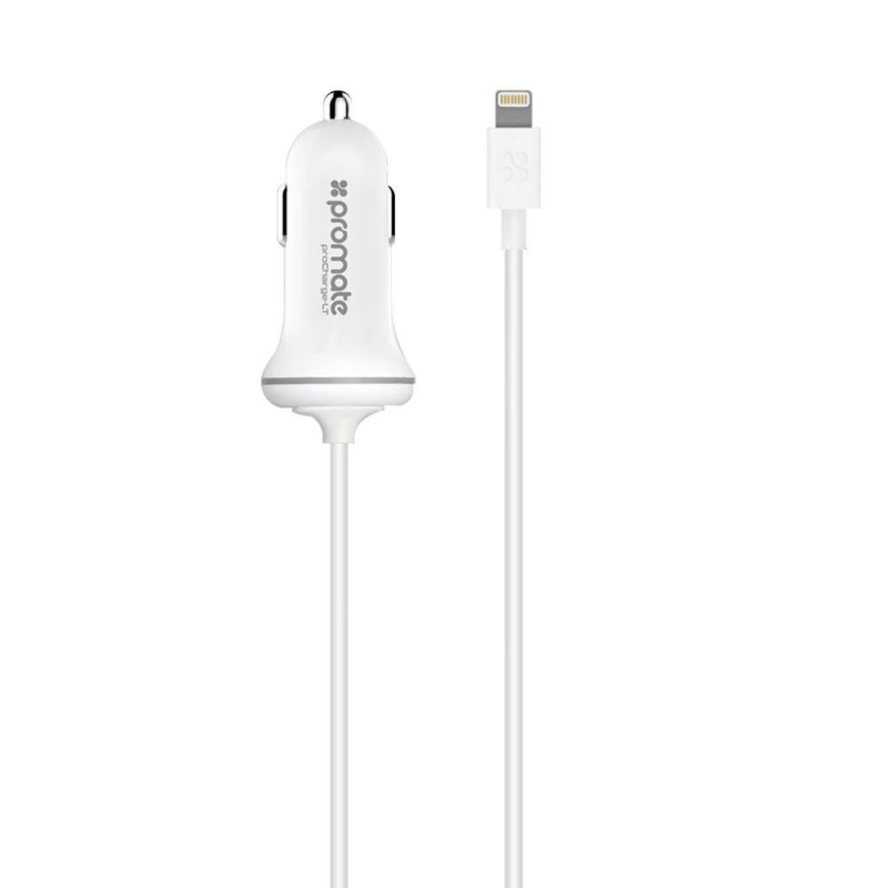 Chargeur IPhone Voiture Promate PROCHARGELT WHITE