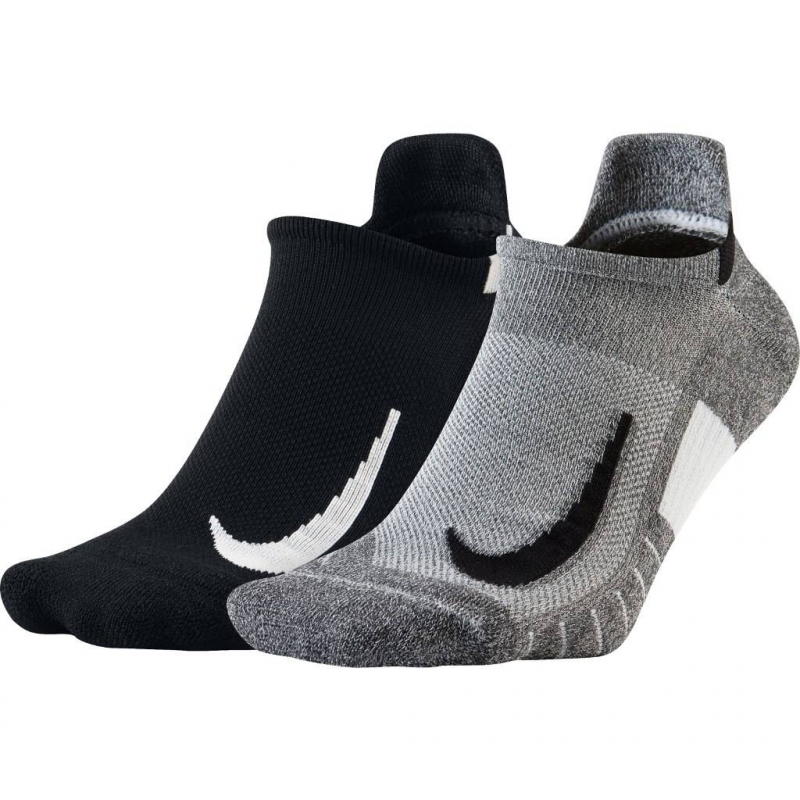 Chaussettes Running Nike Multiplier No-Show 2 Paires - SX7554-915