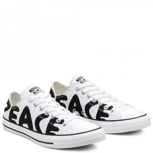 Chaussures Basses Converse Chuck Taylor All Star Peace Blanc/Noir