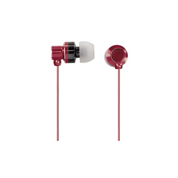 """Hama - Ecouteurs intra-auriculaires + micro """"Fun"""", Rouge"""