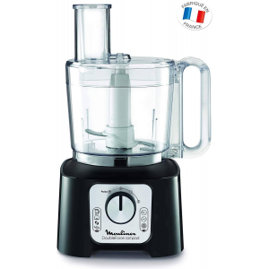 Robot Double Force Compact Moulinex 3L - 7Acc + Blender 1,25L+Hachoir - Blanc