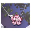 Ouxi - 10420-1 - Collier orné de cristal et zircons SWAROVSKI ELEMENTS Rose